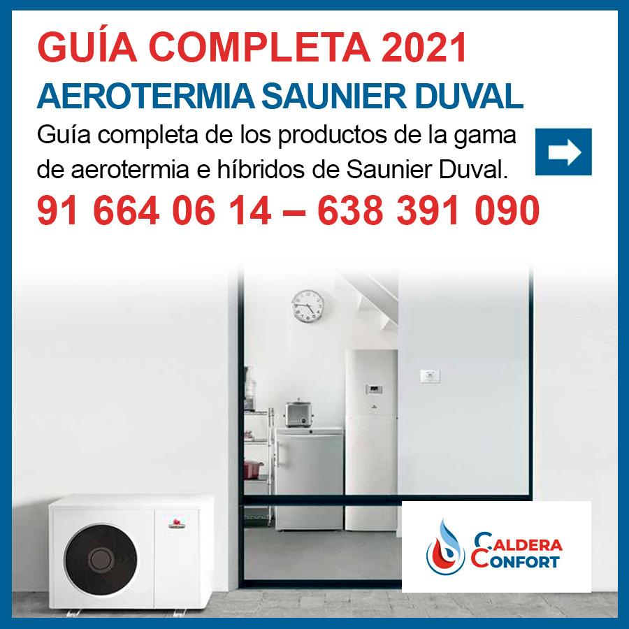 Todos los productos de Aerotermia Saunier Duval integrados en una guia.